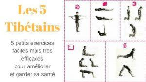 Les 5 tibétains, des exercices simples mais efficace